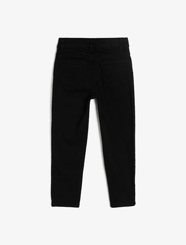 Koton Kids Cep Detayli Jean Pantolon Siyah